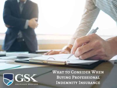 What to Consider When Buying Professional Indemnity Insurance