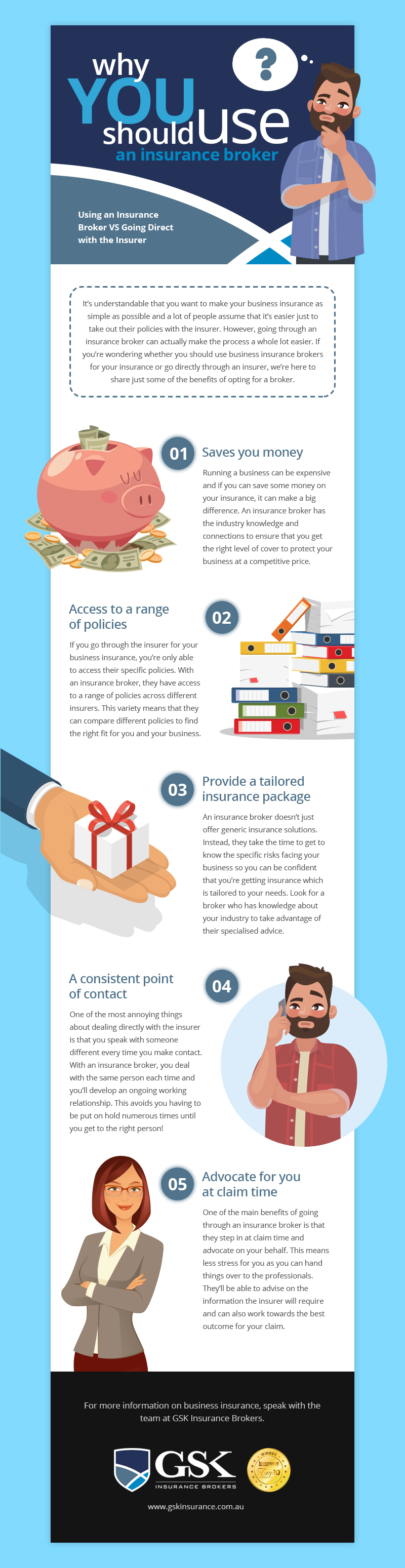 Why you should use an insurance broker infographic