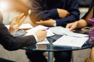 Business meeting among partners